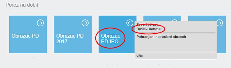 ePorezna - učitavanje PD-IPO obrasca